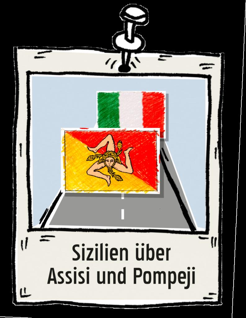 Polaroid-Sizilien-über-Assisi-und-Pompeji the-euroamers
