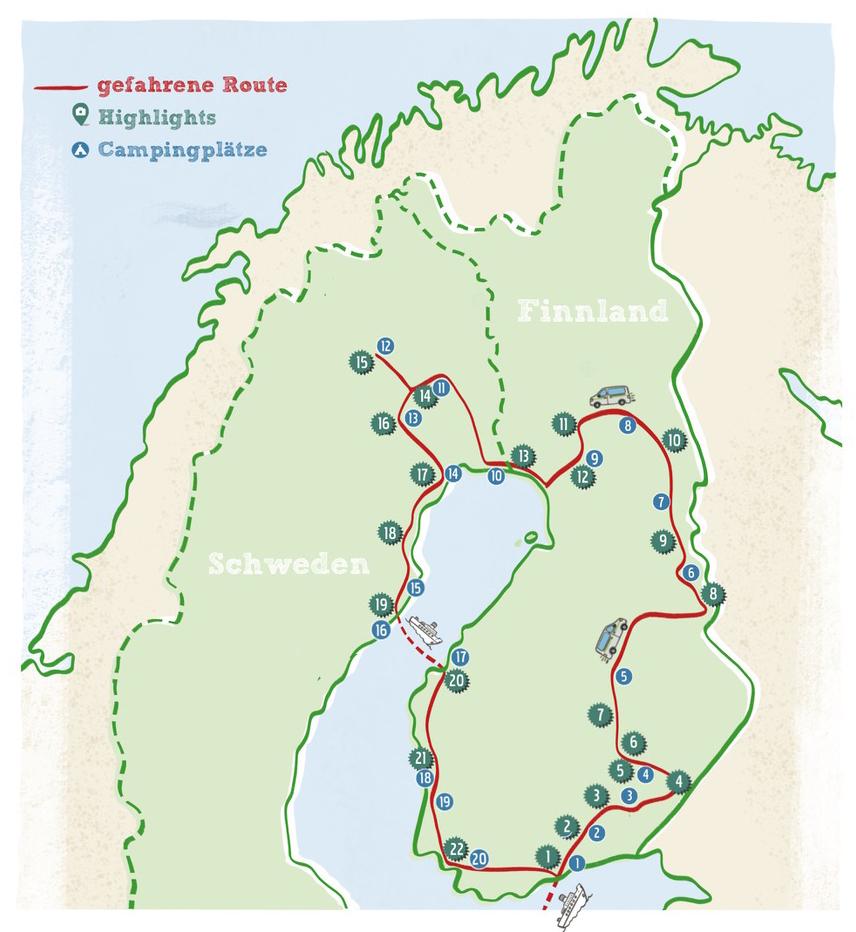 Karte-Finnland