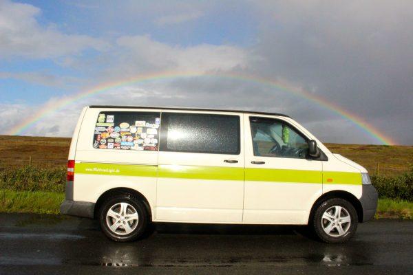 Schottland Regenbogen Campervan Roadtrip Europa T5