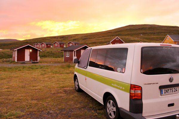 Nordkapp Norwegen nördlichster Campingplatz der Welt