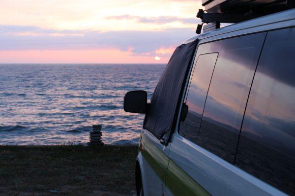 Camping Korsika Meer at the beach