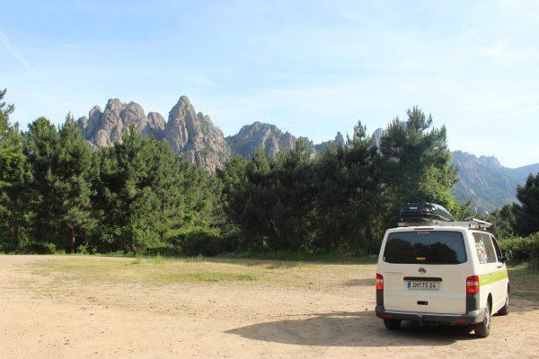 Korsika Berge Roadtrip Campervan Europa