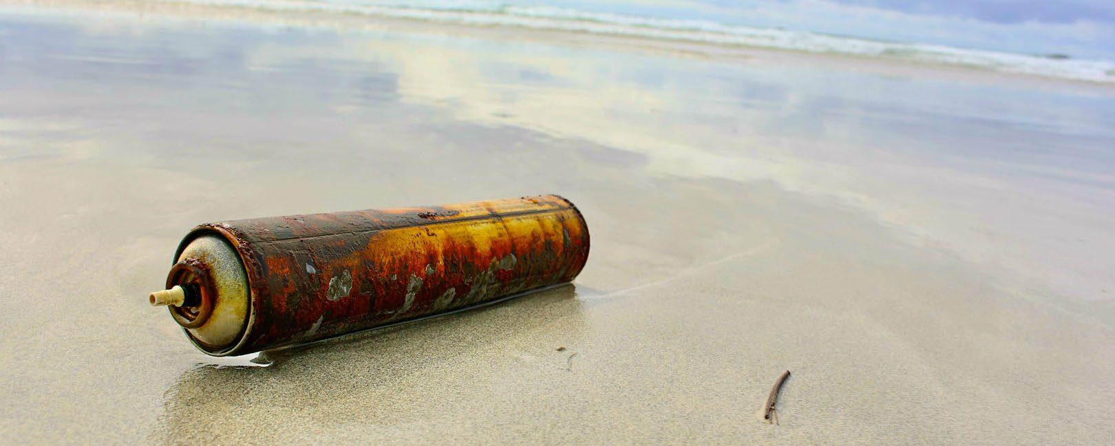 Gedankenreisen Umweltverschmutzung Achtsamkeit Spraydose
