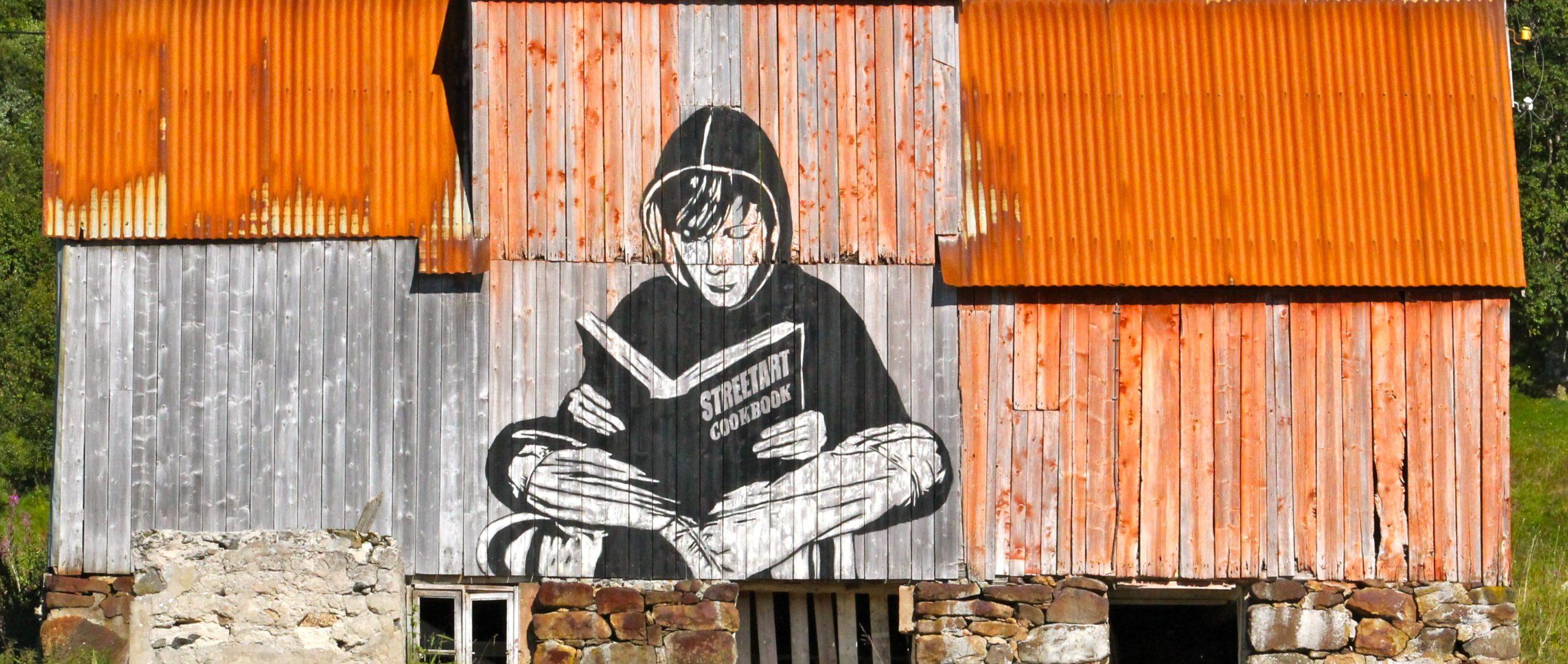 Streetart Lofoten Norwegen