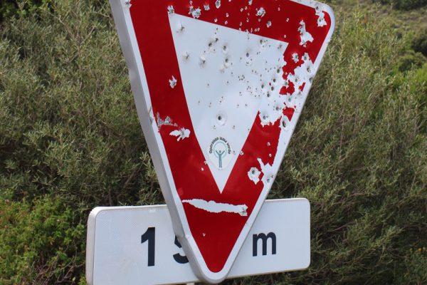Straßenschild Korsika