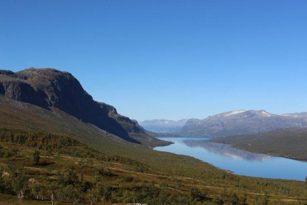 Bergpanorama Schweden Natur