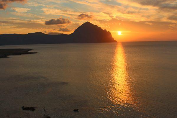 Sonnenuntergang Sizilien Italien Abendstimmung