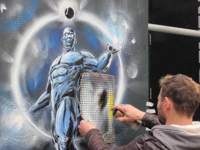 Graffiti Shoreditch London Sprayer Streetart