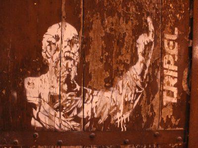 Streetart Stencil Palermo Sizilien Italien Tripel