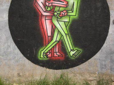 Graffiti Streetart Kaunas Baltikum Ampelmännchen