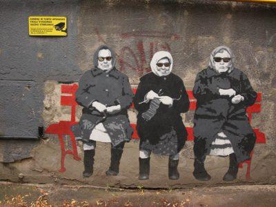Graffiti Streetart Baltikum coole-Omas