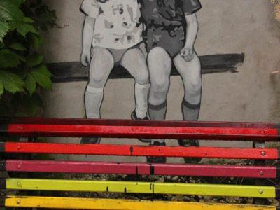 Graffiti Streetart Baltikum Freundschaft