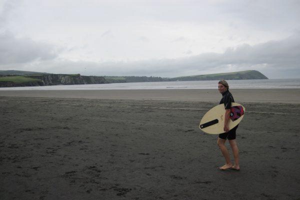 Skimboarden Wales Atlantik Wassersport