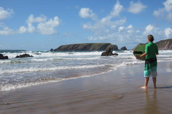 Skimboarden Wales Atlantik Strand Wassersport