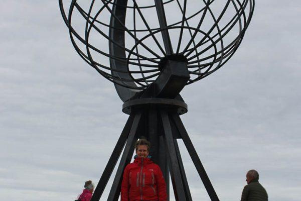 Nordkapp Globus Skulptur Norwegen Traumreise Roadtrip