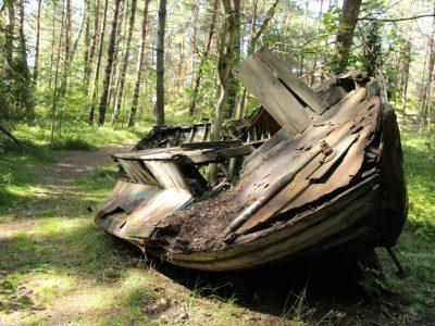 Fischerboots-Wrack Liven Baltikum