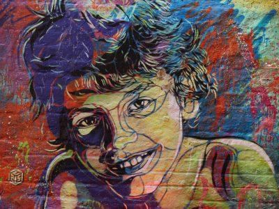 Graffiti Shoreditch London Stencil C215