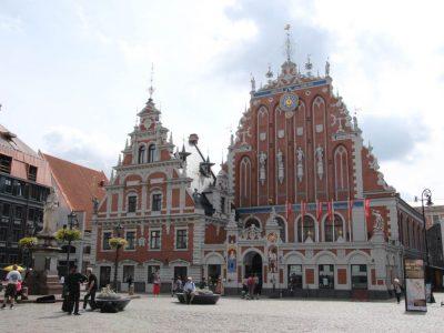 Rathausplatz-Riga Baltikum Lettland Hauptstadt