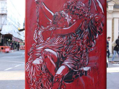 Graffiti Shoreditch London Stencil C215 Streetart