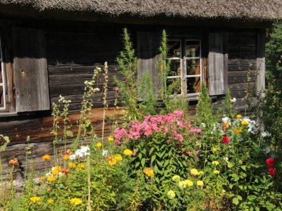 Museums-Dorf Baltikum Bauernhaus Holzhaus