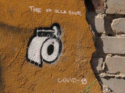 Graffiti Streetart Covid-19 Baltikum