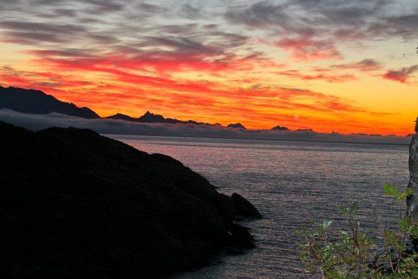 Sonnenuntergang in Norwegen Sunset Mittsommer