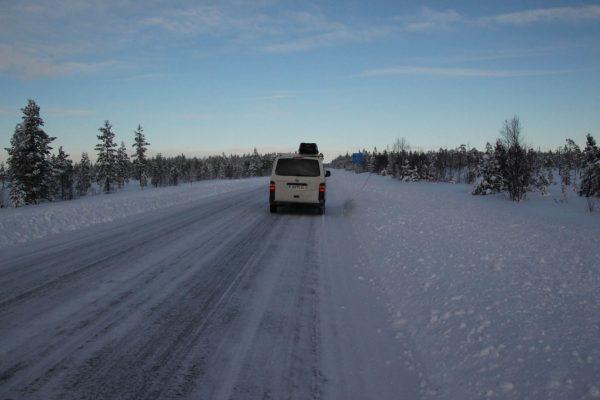 Winterroadtrip Winter Wintercamping Lappland-im-Winter