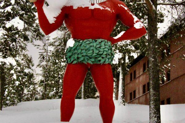 Inlandsvägen Schweden-im Winter