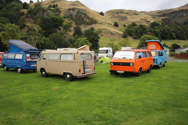 Stirling Schottland Wagenburg VW-Bulli