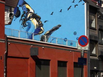Streetart Graffiti Stencil Oslo Norwegen