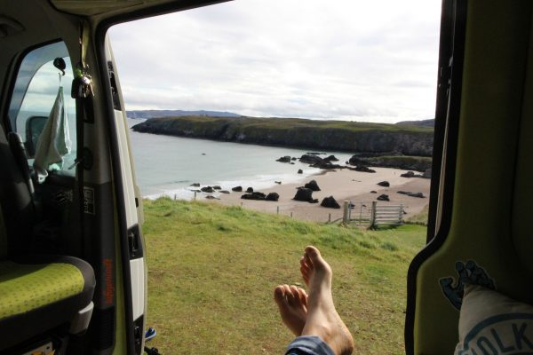 Relax Entspannung Vanlife Campervan Schottland Atlantik