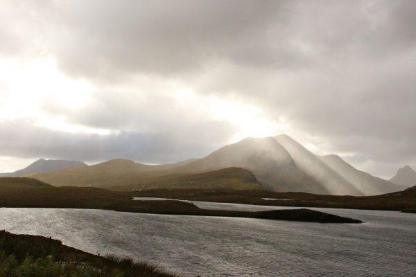 Regenstimmung Schottland Landschaft