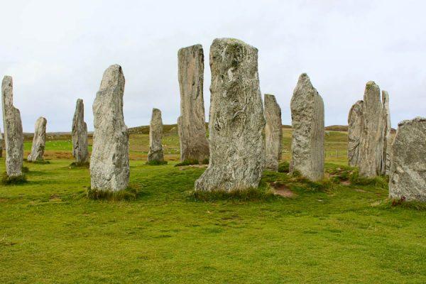 the-Callanish-Stones auf Isle-of-Lewis Schottland