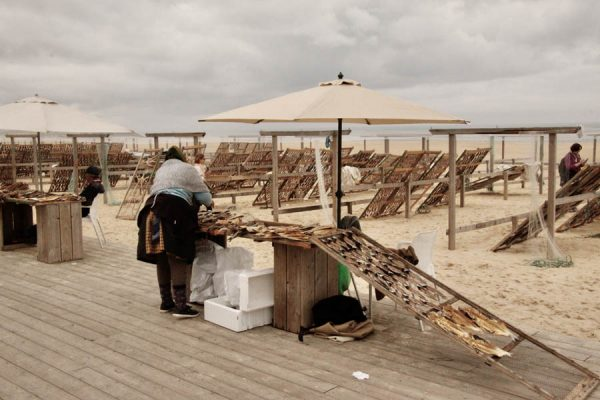 getrocknete-Fische Strand Portugal