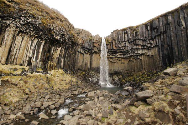 Basaltgestein Wasserfall Island Svartifoss