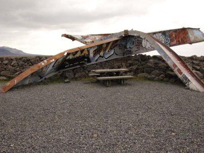 Brückenpfeiler Vulkanausbruch Island