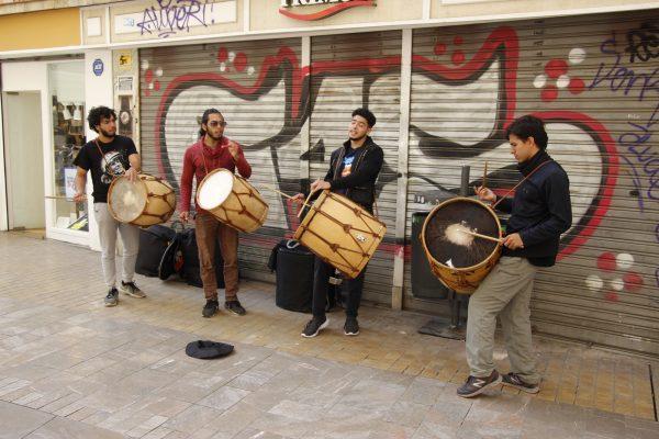 Straßenmusiker Percussion