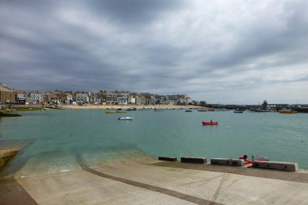 Hafen Cornwall Fischerboote