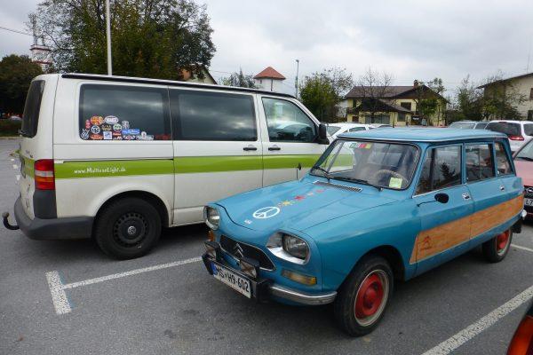 Oldtimer Campervan the euroamers Slowenien