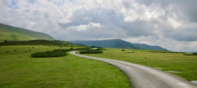 Wales Roadtrip grüne Felder